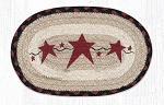 Primitive Stars Burgundy Braided Rug Mat 7.5