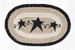 Primitive Stars Black Braided Rug Mat 7.5