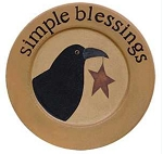 Crow Plate - Simple Blessings