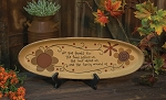 We Give Thanks Oval Tray