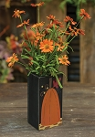 Pumpkin Wood Vase