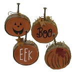 Boo, Eek Pumpkins - set of 4