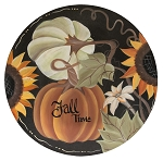 Fall Time Colorful Pumpkin Plate