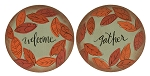 Welcome & Gather Fall Leaves Decorative Plates - 2 asst.