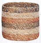 Honeycomb Sedge Grass Braided Rug Basket Various Sizes