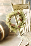 Prickly Pine Candle Ring | Snow | 12