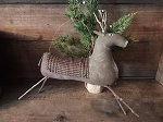 Handmade Large Blanket Deer Buck with Hanger