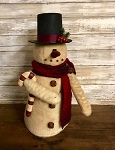 Handmade Snowman with Scarf and Hat 16