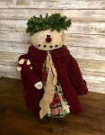 Handmade Snow Lady with Sweater and Candy Cane 17