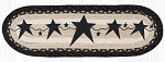 Primitive Star Black Table Runner / Stair Tread 27