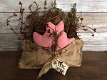 Handmade Love Letter With Pink Hearts, Sweet Annie Pip Berries