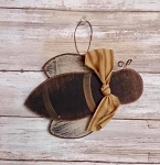 Handmade Bee Wood Ornament 5