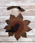 Handmade Sunflower with Crow Wood 11