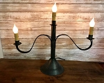 Chester 3 Arm Candelabra Table Lamp Handmade Tin