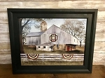 Billy Jacobs Framed Artwork American Star Quilt Block Barn