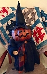 Handmade Extra Large Pumpkin Witch 29