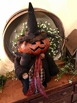 Handmade Witch Pumpkin Doll 18