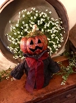 Handmade Baby Pumpkin Witch Doll 12