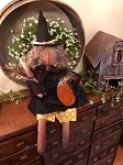 Handmade Hanging or Sitting Witch Doll