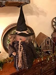 Handmade Large Witch Doll Holding A Crow 25
