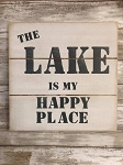 The Lake Is My Happy Place Handmade Farmhouse Style Sign 12