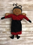 Handmade Lady Bug Doll Hang or Sit