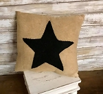 Handmade Black Star Pillow 12