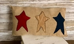 Handmade Americana Red White Blue Star Pillow 12