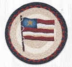 Primitive Star Flag Braided Rug 10