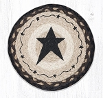 Primitive Star Black Braided Rug 10
