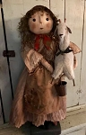 Handmade Doll Holding a Goat by Bearing In Love 24