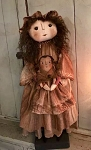 Handmade Doll Holding Baby Doll by Bearing In Love 24
