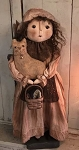 Handmade Doll Holding a Cat by Bearing In Love 24