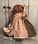 Bess Pumpkin Pilgrim Girl Handmade by Bearing In Love