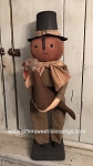 Sam Pumpkin Pilgrim Boy Handmade by Bearing In Love