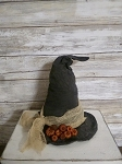 Handmade Witch Hat with Pumpkin Putka Pods