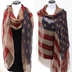 Vintage American Flag Scarf for Draping or Wearing