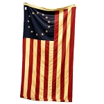 Large Tea-Stained Betsy Ross Flag