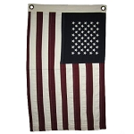 Burgundy & Navy & Cream Small 50 Star Flag
