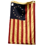 Small Tea-Stained Betsy Ross Flag