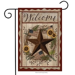 Autumn Welcome Barnstar Garden Flag