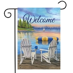 Waterfront Retreat Welcome Garden Flag