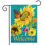 Monarch and Sunflowers Garden Flag