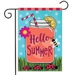 Welcome Summer Lemonade Garden Flag