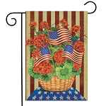 Patriotic Planter Primitive Garden Flag