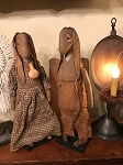 Handmade Primitive Bunny Set of 2 18