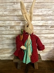 Handmade Plush Bunny Dressed with Carrot 25