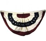 Burgundy & Navy & Cream Large Bunting