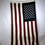 Burgundy & Navy & Cream Large 50 Star Flag