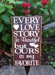 Every Love Story Burgundy Sign 12